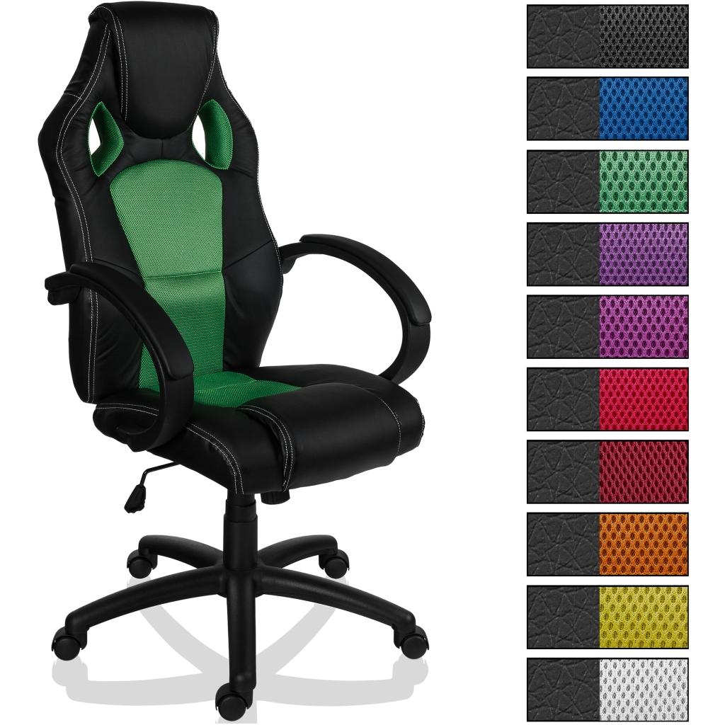 racing b rostuhl gr n sportsitz chefsessel stuhl drehstuhl schalensitz b ro ebay. Black Bedroom Furniture Sets. Home Design Ideas