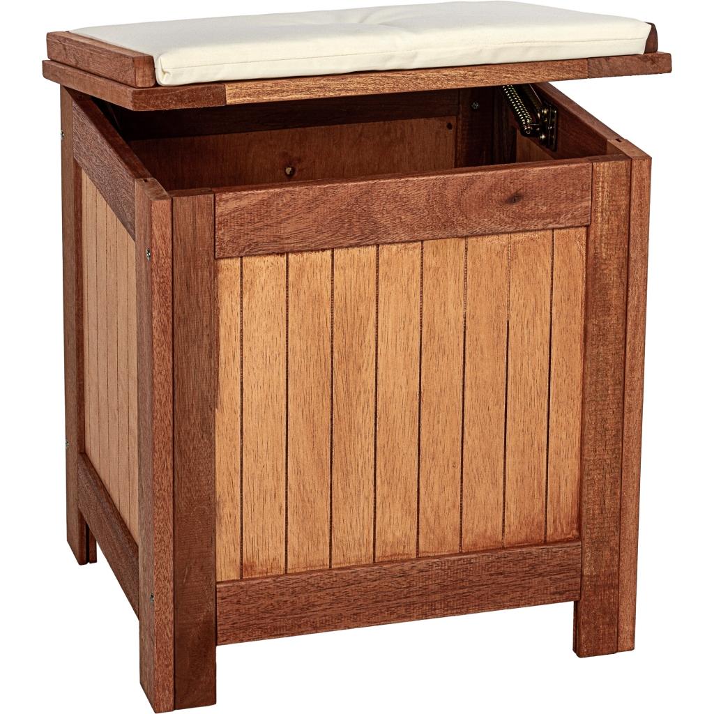 stilista gartentruhe aus fsc holz inkl kissen gartenm bel gartenbox truhe box ebay. Black Bedroom Furniture Sets. Home Design Ideas