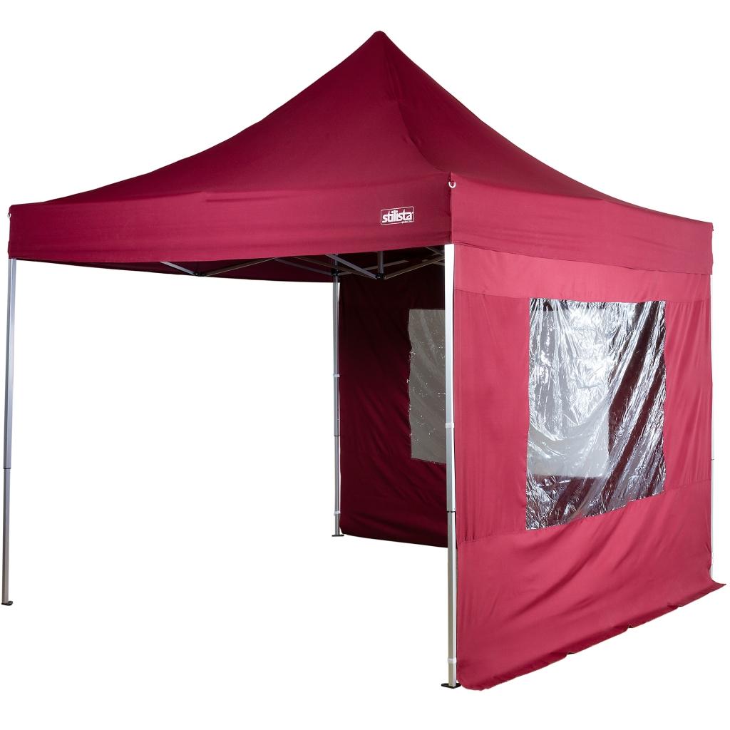 stilista profi klapp falt pavillon 3x3m wasserdicht alu burgund zelt pavillion ebay. Black Bedroom Furniture Sets. Home Design Ideas
