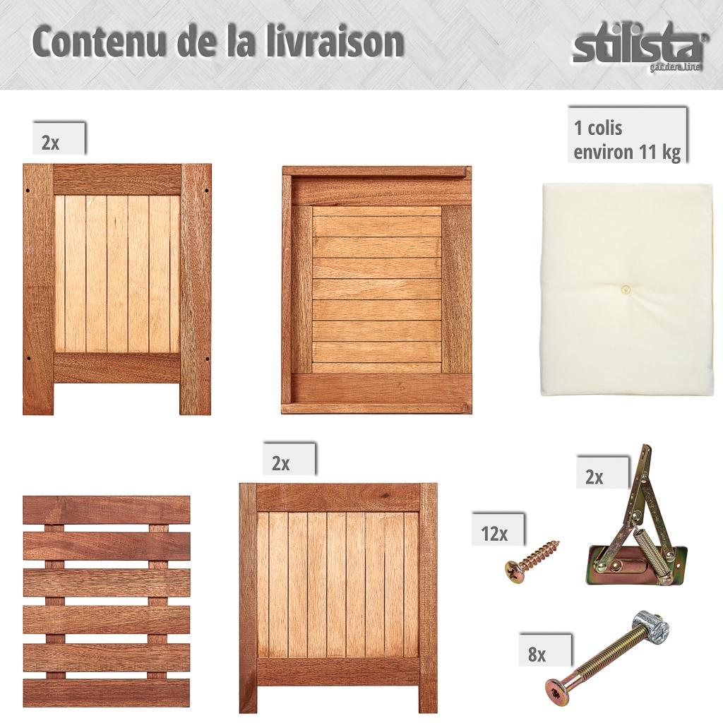 Gartentruhe aus FSC Holz inkl Kissen Gartenmöbel Gartenbox Truhe Box