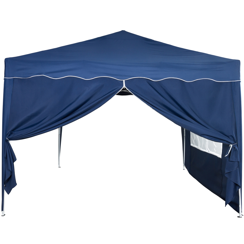 klapp falt pavillon 3x3m wasserdicht blau party zelt gartenzelt pavillion ebay. Black Bedroom Furniture Sets. Home Design Ideas