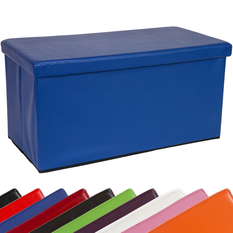 Stilista Foldable Stool Seat Cube Storage Box Hocker Bench Blue Ebay