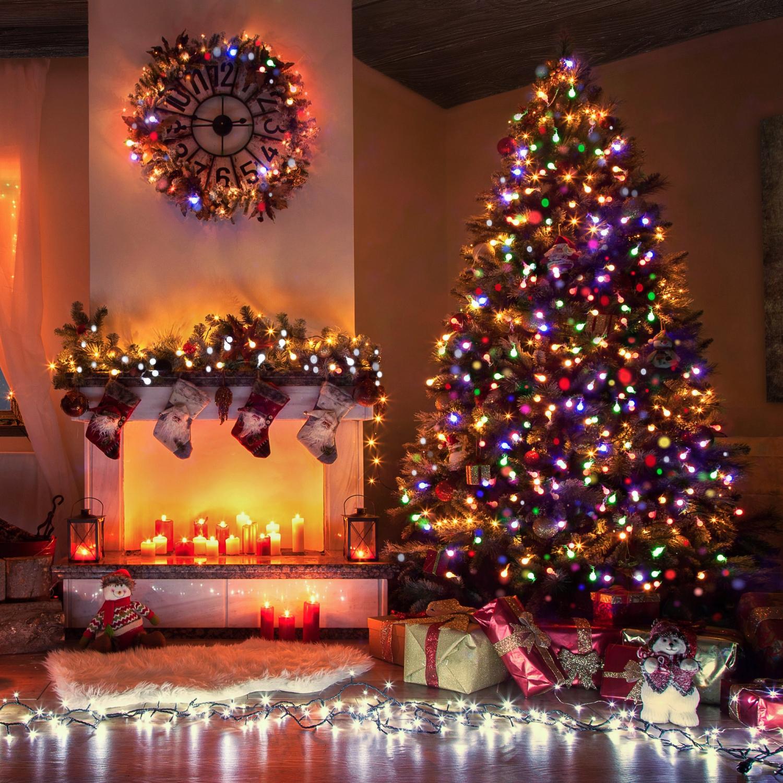 600 led lichterkette weihnachtsbeleuchtung warmwei au en weihnachten deko xmas ebay. Black Bedroom Furniture Sets. Home Design Ideas