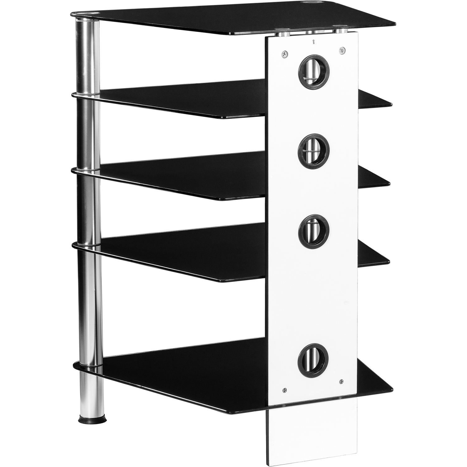 stilista tv rack wardrobe stand furniture regal hifi audio glass black glass ebay. Black Bedroom Furniture Sets. Home Design Ideas