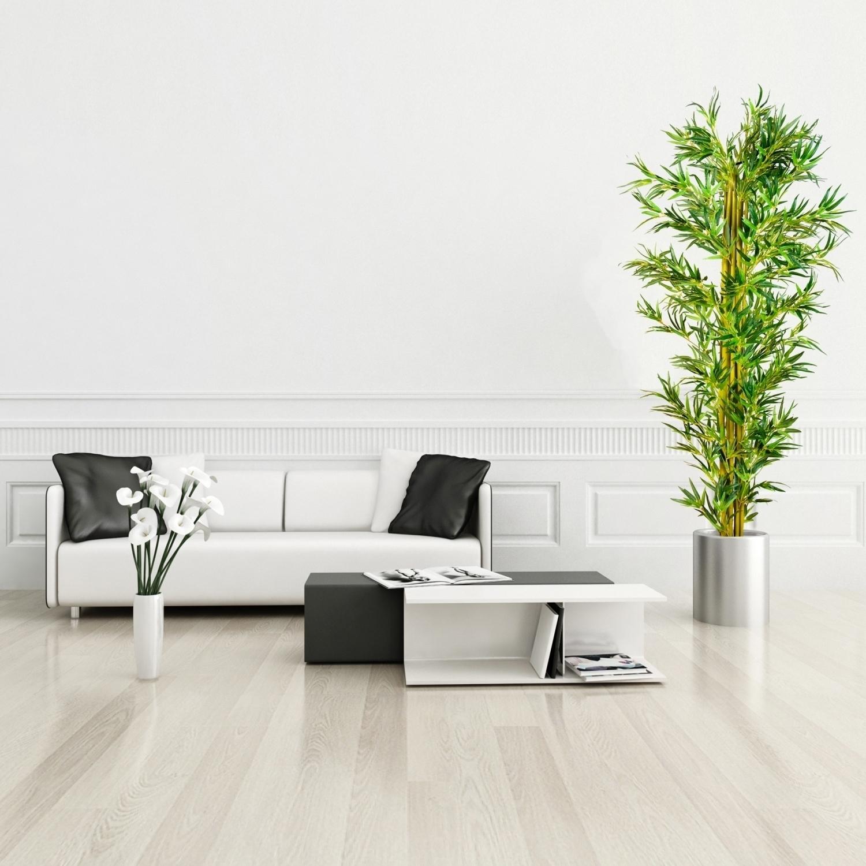 Lit en bambou tronc en bois v ritable arbre artificiel plantes artificielles - Tronc de bambou decoratif ...