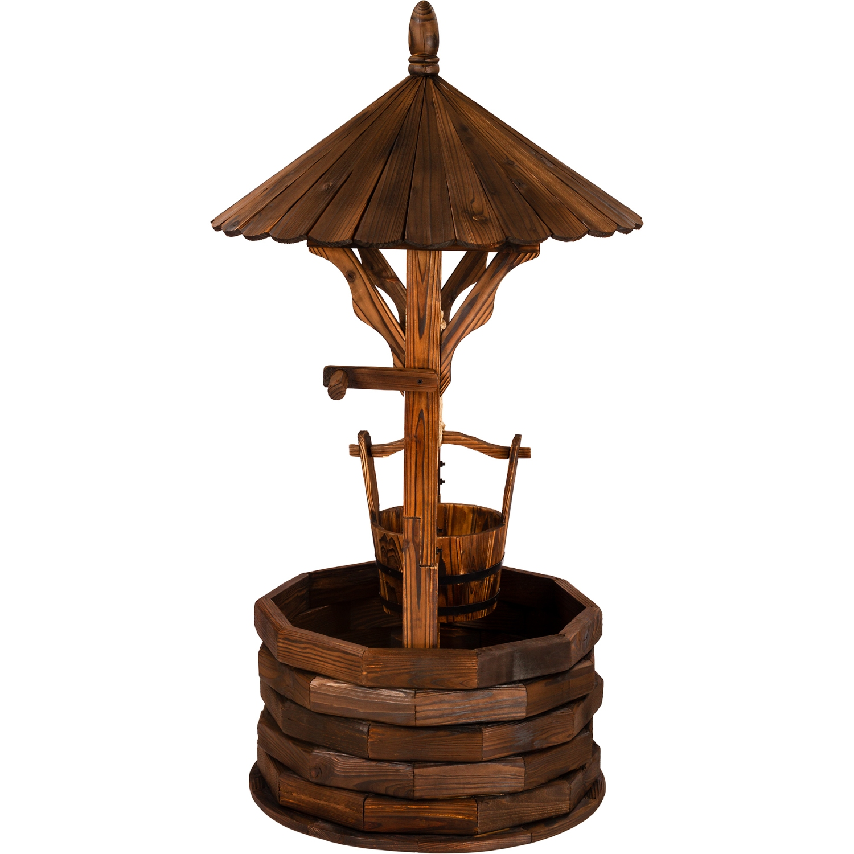 Fontane da giardino 120cm trattato a mano oliato pozzo for Fontane in legno