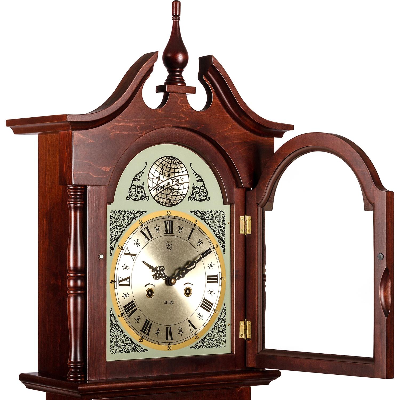 horloge stand horloge pendule montre pendule regulator acajou 196 cm. Black Bedroom Furniture Sets. Home Design Ideas