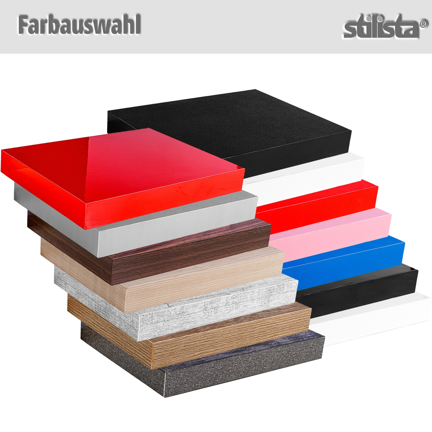 stilista wandboard volato wandregal cd dvd regal 50cm rot hochglanz ebay. Black Bedroom Furniture Sets. Home Design Ideas