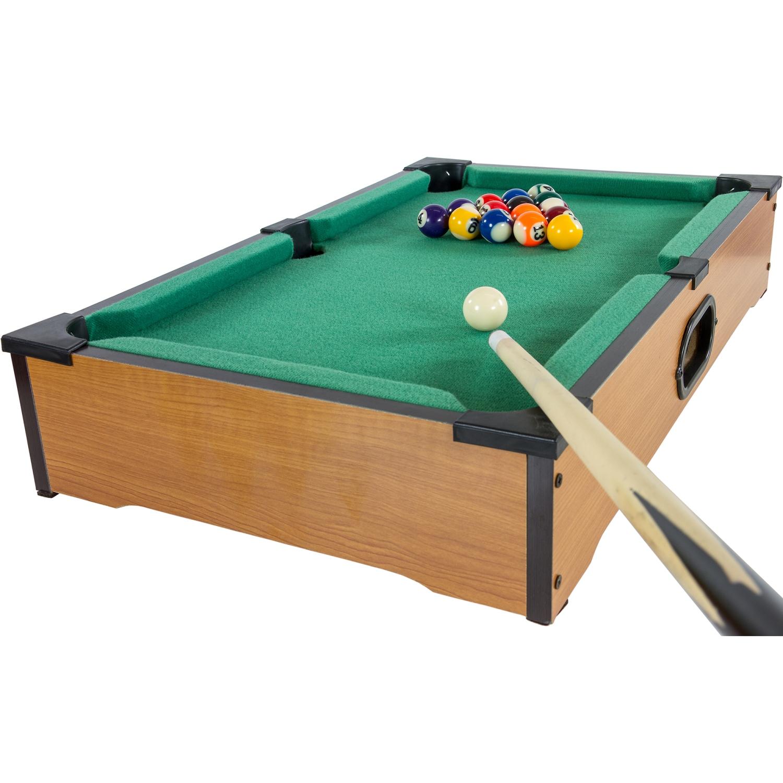 Mini pool billardtisch inkl zubeh r ma e 51x31x10cm for Pool holzdekor