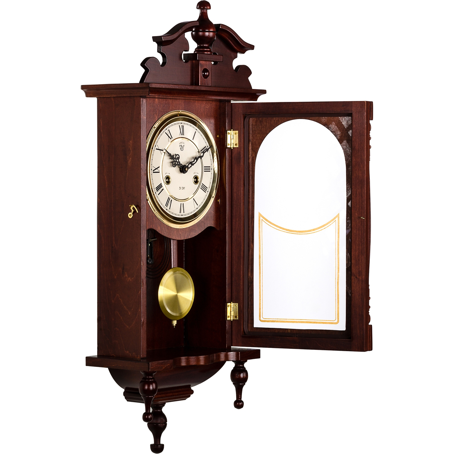 Wall clock orpheus regulator pendulum clock mahagoni ebay - Stylish pendulum wall clock ...