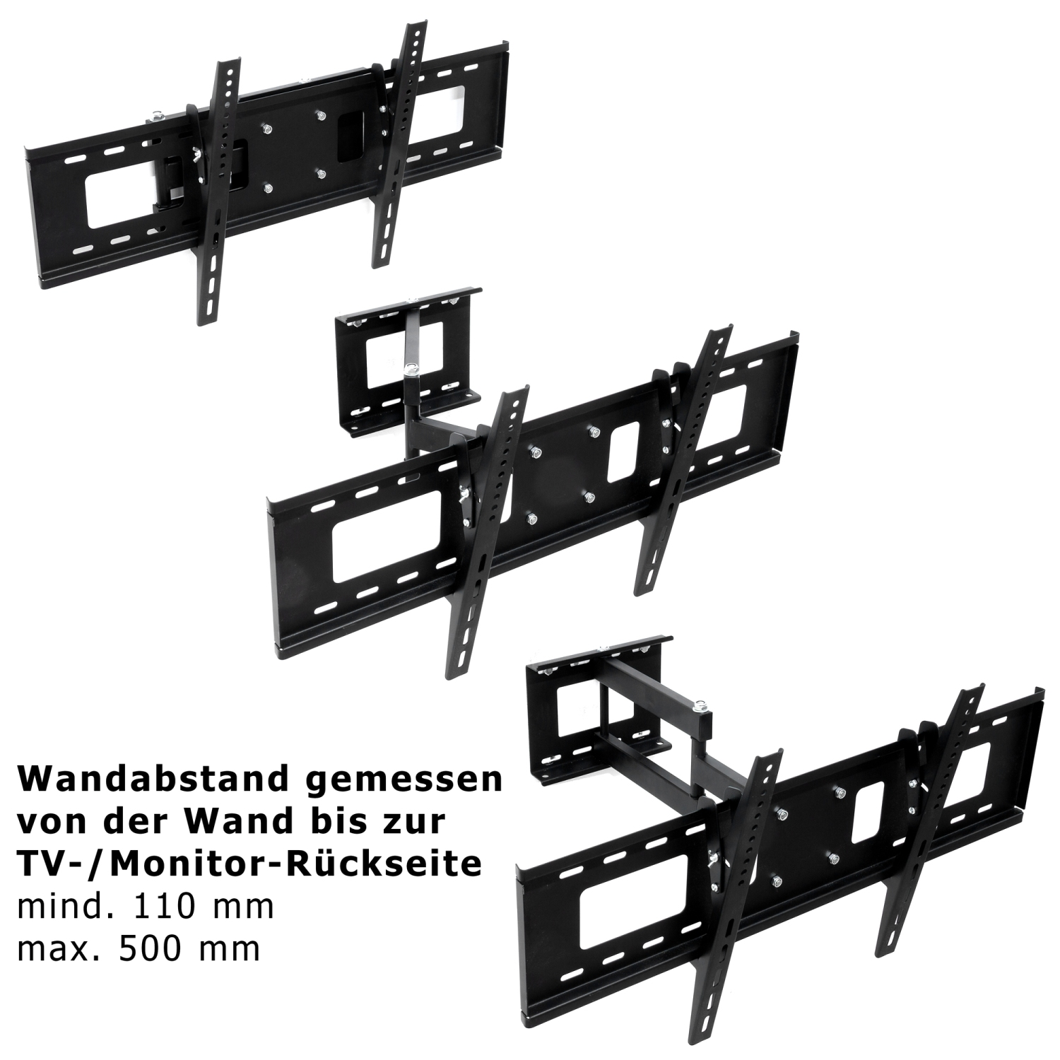 tv wandhalterung led lcd halterung bis vesa 750x400 schwenkbar neigbar mounty ebay. Black Bedroom Furniture Sets. Home Design Ideas