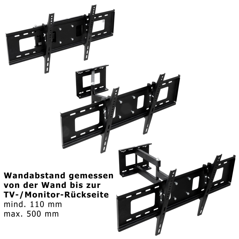 tv wandhalterung led lcd halterung bis vesa 750x400 schwenkbar neigbar mounty ebay. Black Bedroom Furniture Sets. Home Design Ideas