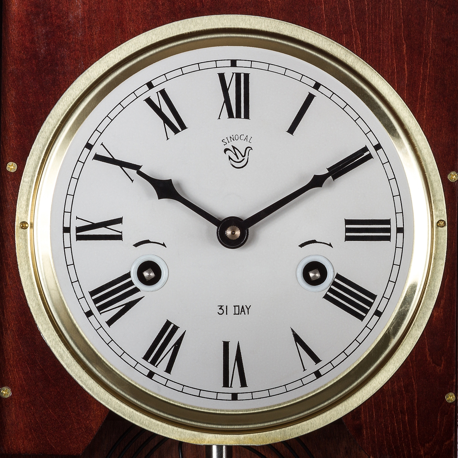magnifique horloge murale au acajou style horloge pendule regulator ebay. Black Bedroom Furniture Sets. Home Design Ideas