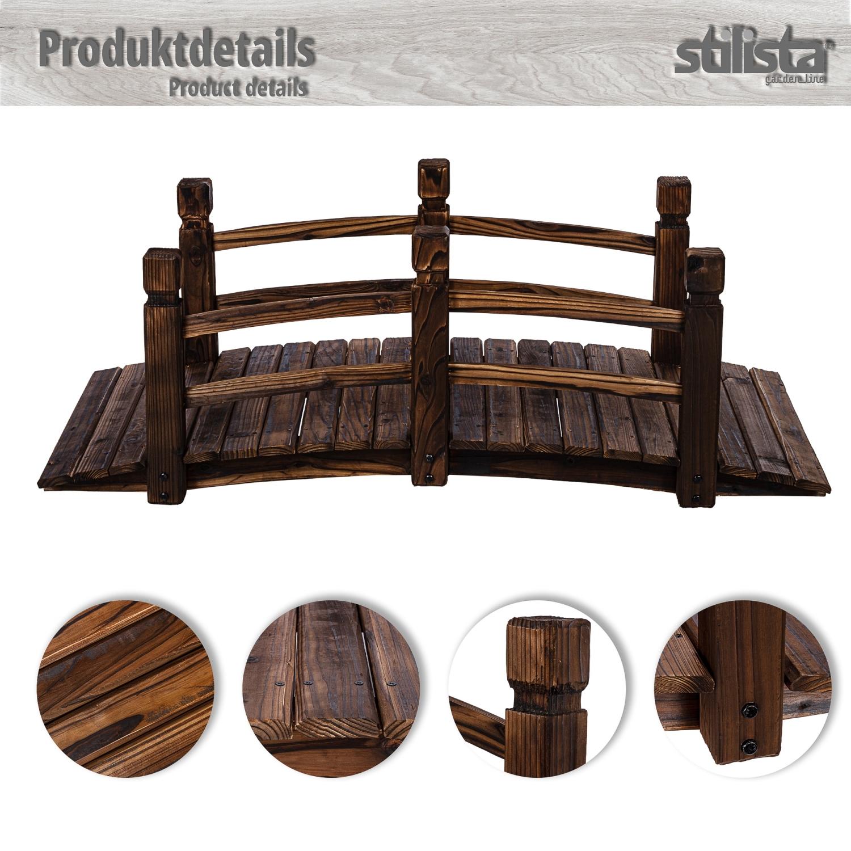 Xxl solid wooden bridge pond garden oiled 150cm lang - Petit pont en bois ...