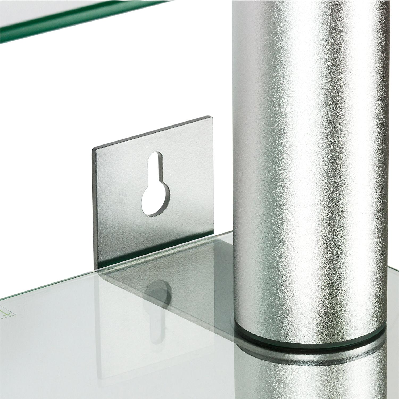 stilista glas aluminium cd dvd wandregal regal f r 222 cds dvds ebay. Black Bedroom Furniture Sets. Home Design Ideas