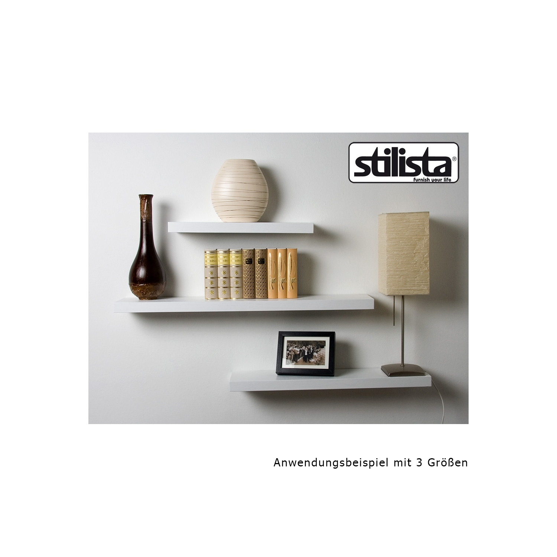 stilista wandregal wei schwarz braun wandboard board. Black Bedroom Furniture Sets. Home Design Ideas