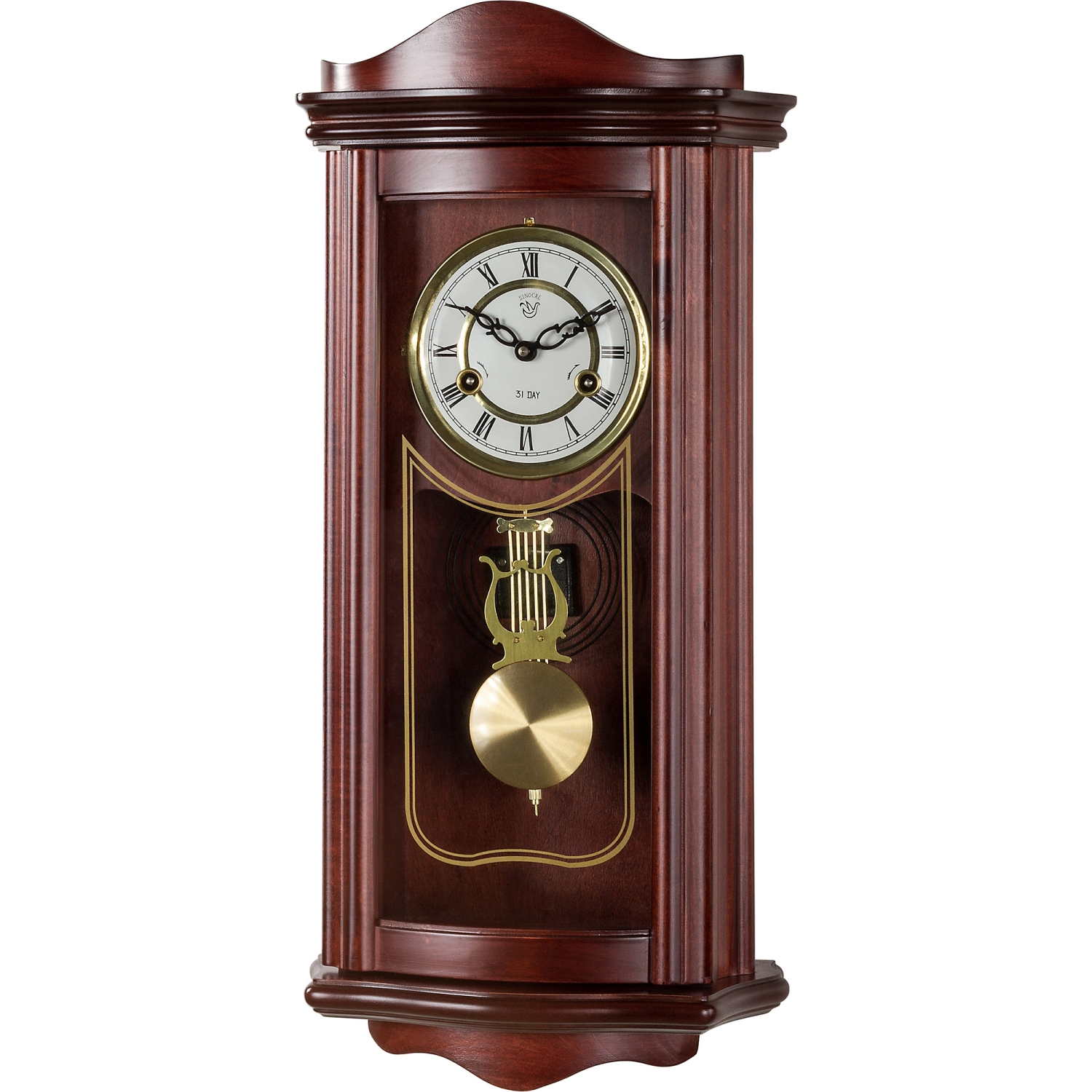 Wall clock prometheus regulator pendulum clock mahagoni ebay - Stylish pendulum wall clock ...