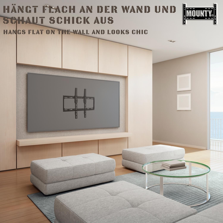 tv wandhalterung led halterung bis vesa 400x400 neigbar mounty my171 ebay. Black Bedroom Furniture Sets. Home Design Ideas