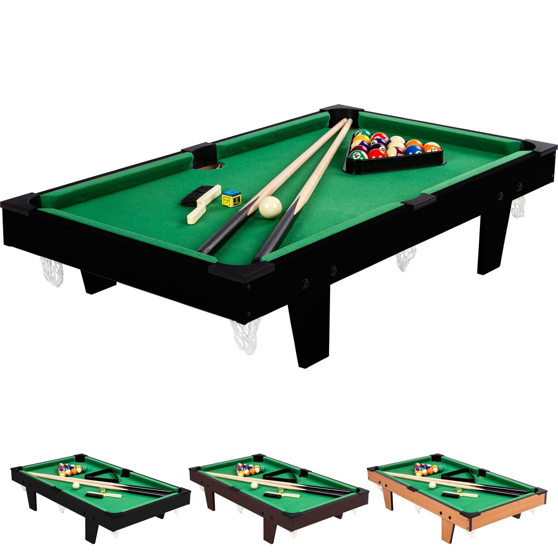 Mini pool billardtisch inkl zubeh r ma e 92x52x19cm for Pool holzdekor