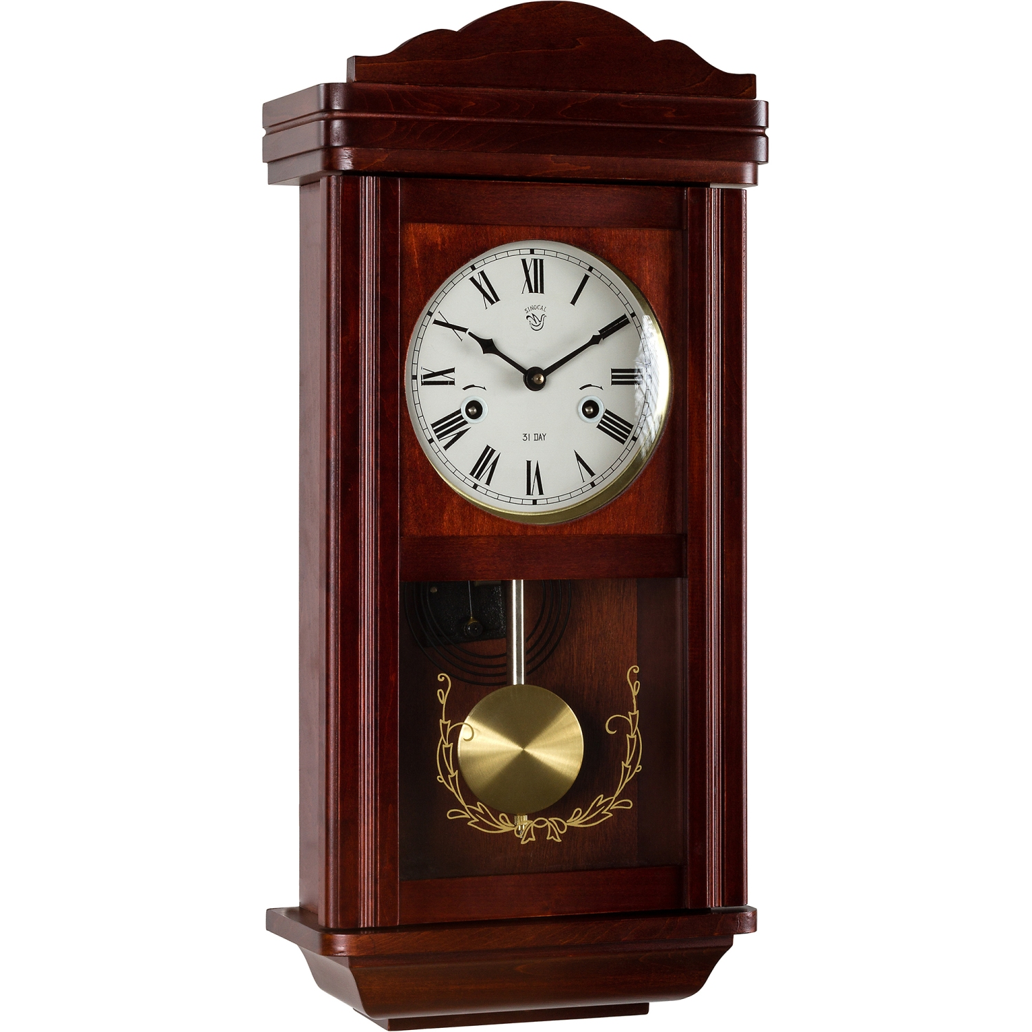 wanduhr pendeluhr uhr regulator im mahagoni stil pendel. Black Bedroom Furniture Sets. Home Design Ideas