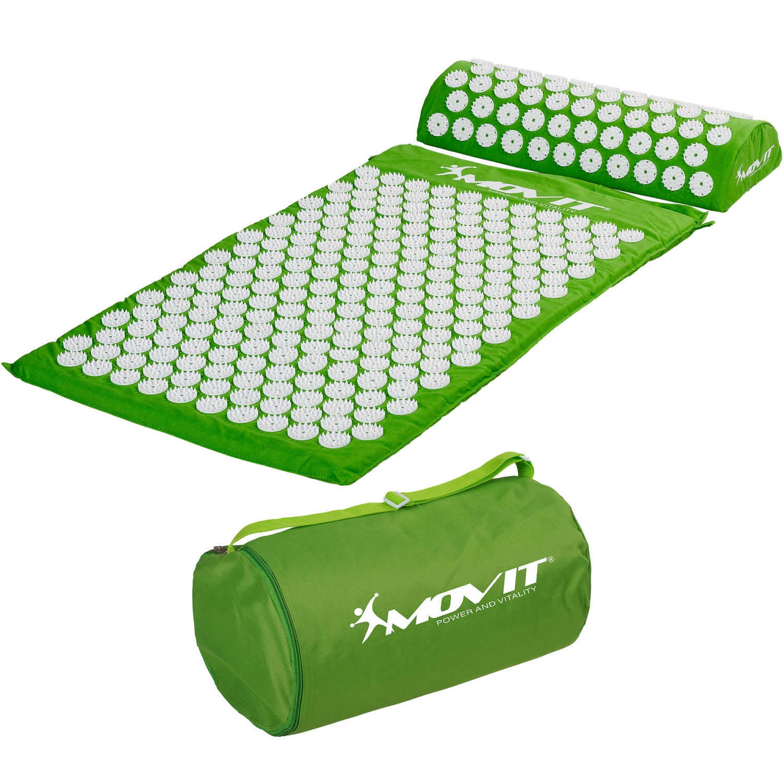 movit tapis d 39 acupression coussin sac massage tapis acupuncture vert ebay. Black Bedroom Furniture Sets. Home Design Ideas