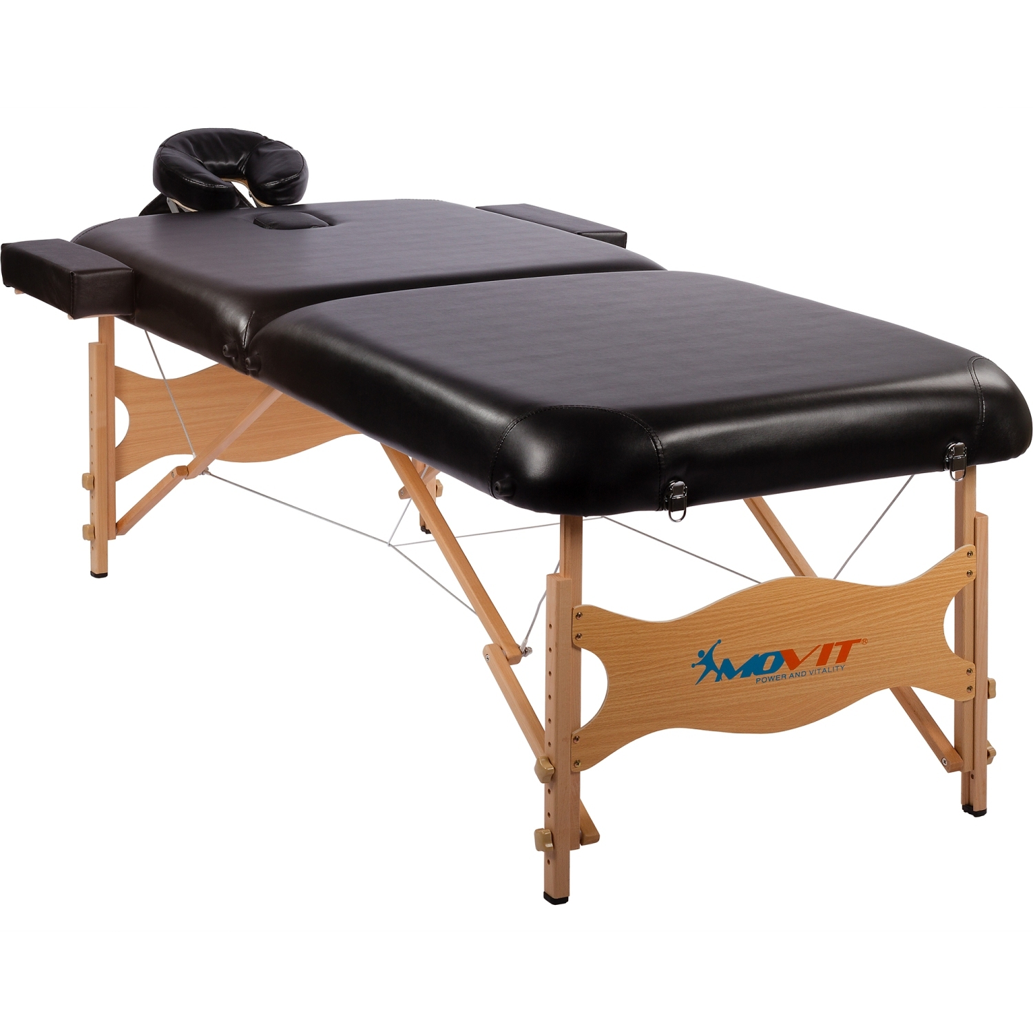 movit de luxe lit de massage table de massage en set 80 cm largeur noir ebay. Black Bedroom Furniture Sets. Home Design Ideas