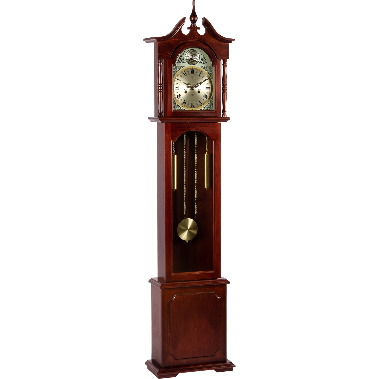 standuhr pendeluhr uhr pendel regulator mahagoni 196 cm ebay. Black Bedroom Furniture Sets. Home Design Ideas