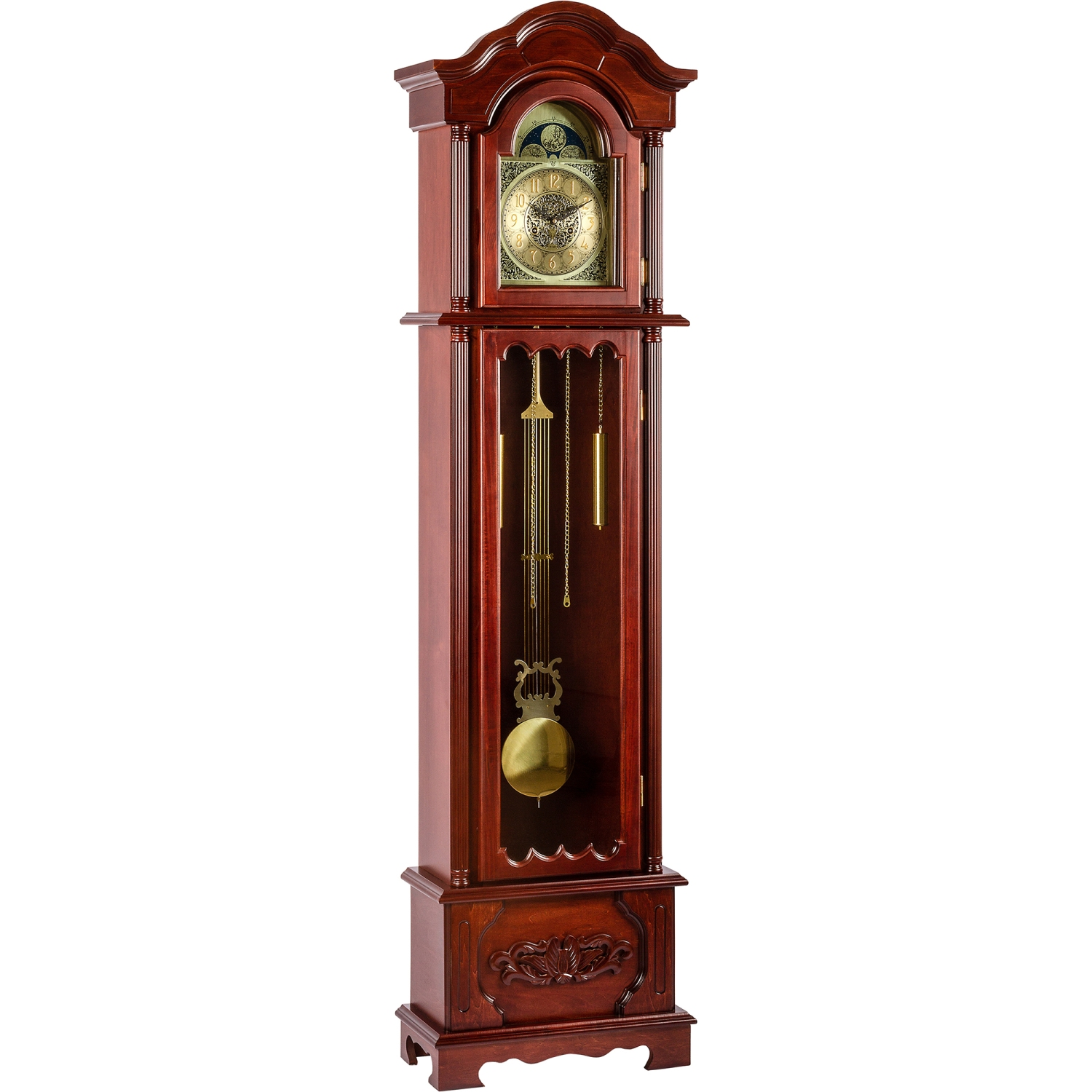 standuhr pendeluhr uhr pendel regulator kronos 200 cm ebay. Black Bedroom Furniture Sets. Home Design Ideas