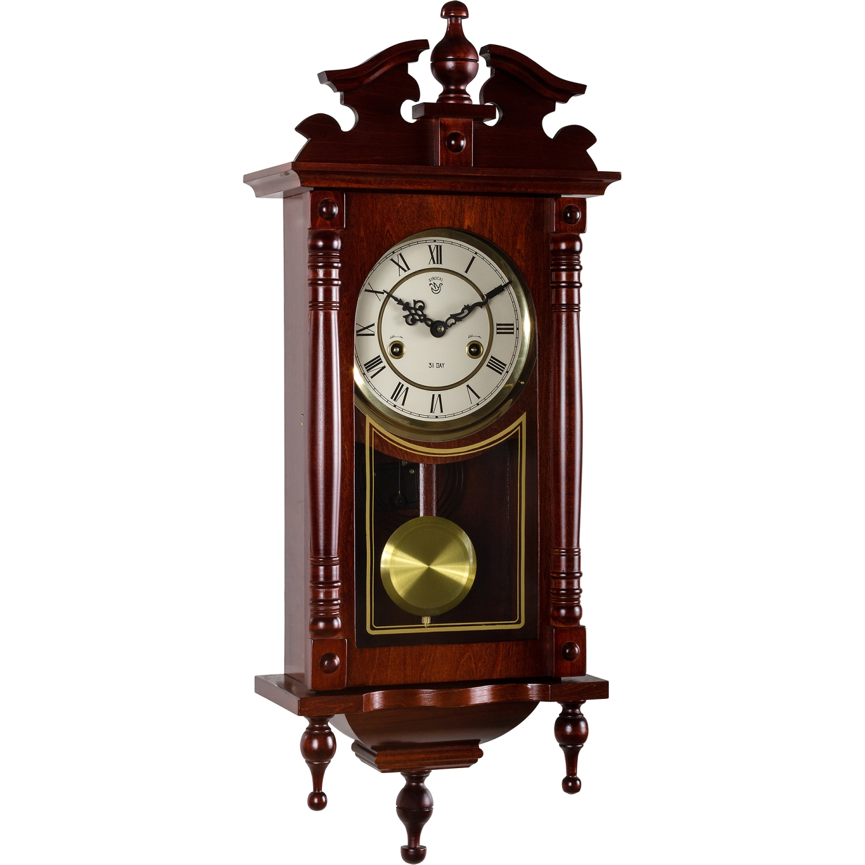 wanduhr orpheus regulator pendeluhr mahagoni. Black Bedroom Furniture Sets. Home Design Ideas