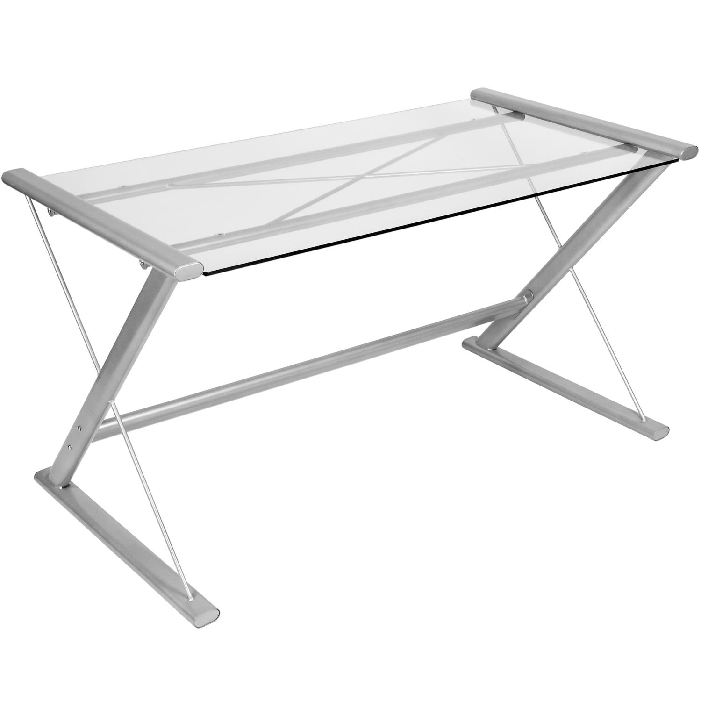 stilista glastisch schreibtisch computertisch pc glas tisch b rotisch ebay. Black Bedroom Furniture Sets. Home Design Ideas