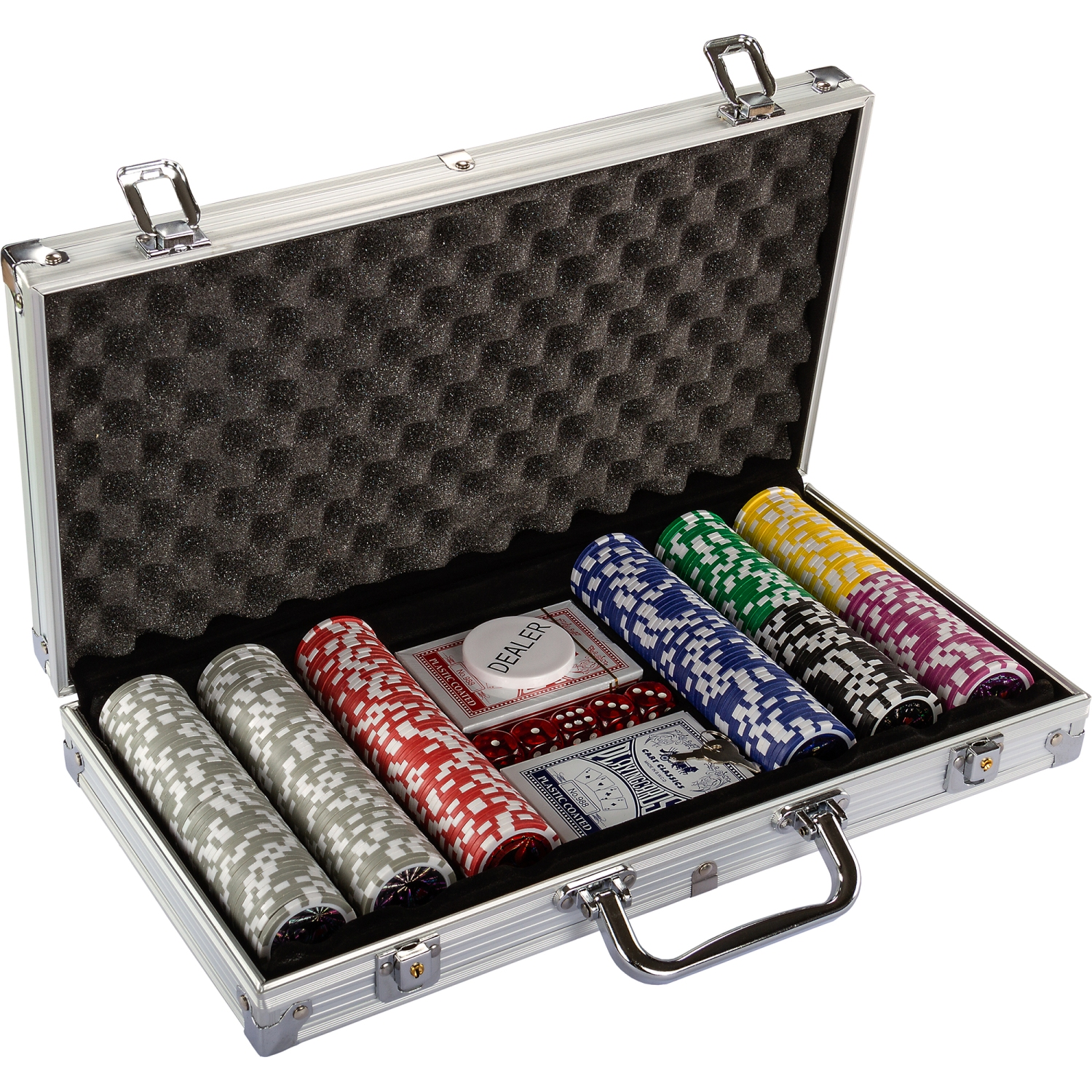 pokerkoffer pokerset poker set laser pokerchips 300 chips alu koffer jetons ebay. Black Bedroom Furniture Sets. Home Design Ideas