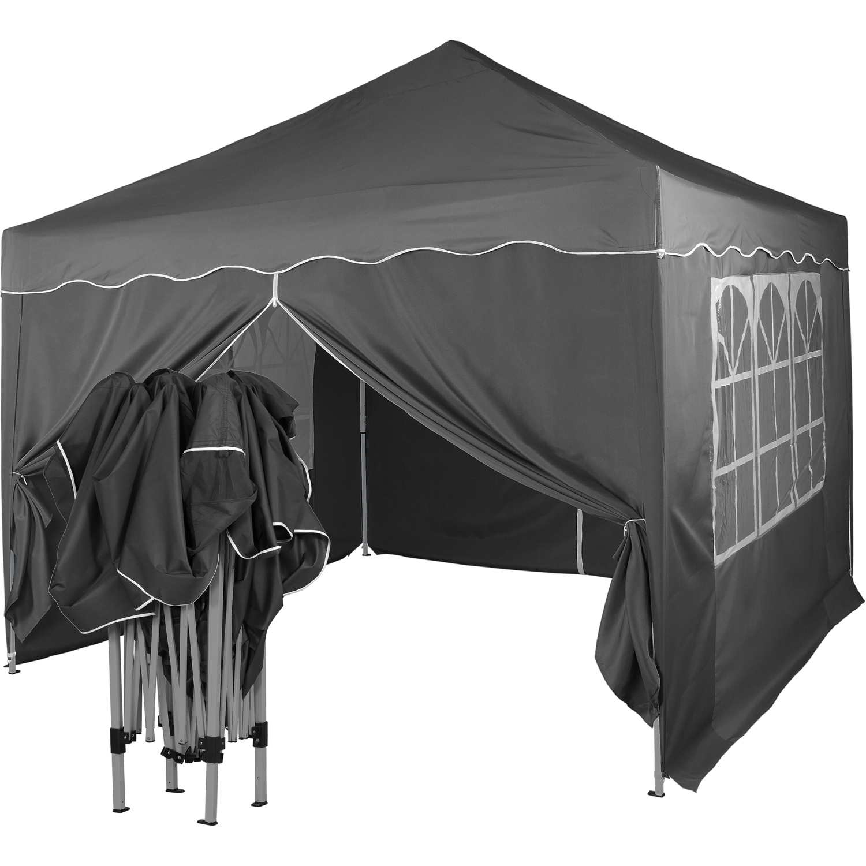 klapp falt pavillon 3x3m wasserdicht party zelt gartenzelt partyzelt pavillion ebay. Black Bedroom Furniture Sets. Home Design Ideas
