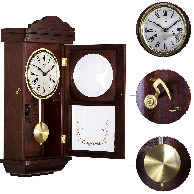 Orologio pendolo parete orologio regolatore IM mogano stile pendolo ...