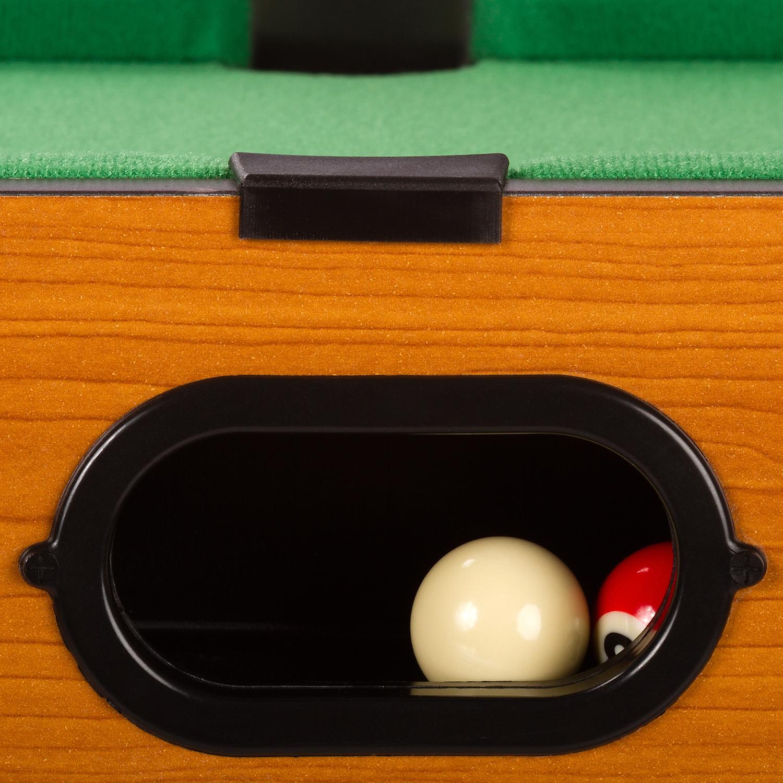 Mini billardtisch zubeh r 51x31x10cm helles holzdekor for Pool holzdekor
