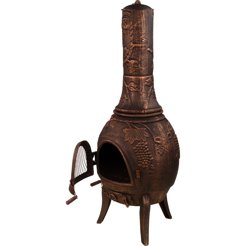 XXL Terrassenofen massiv Gusseisen bronze Garten Kamin Ofen Feuerstelle eBay ~ 13204545_Feuerstelle Garten Vorschriften