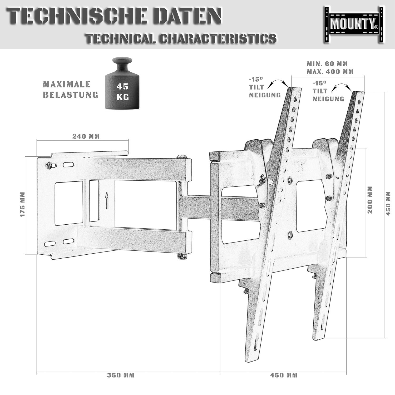 lcd led tv wandhalterung fernseher wandhalter 32 55 zoll. Black Bedroom Furniture Sets. Home Design Ideas