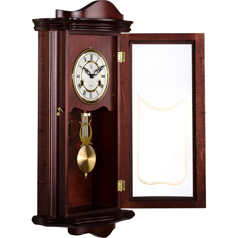 wanduhr pendeluhr regulator antik mechanisch mahagoni holz uhr prometheus ebay. Black Bedroom Furniture Sets. Home Design Ideas