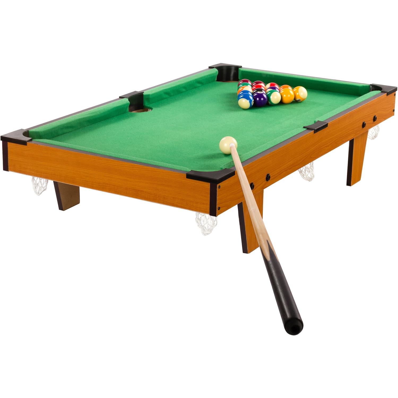 Mini billardtisch zubeh r 92x52x19cm helles holzdekor for Pool holzdekor