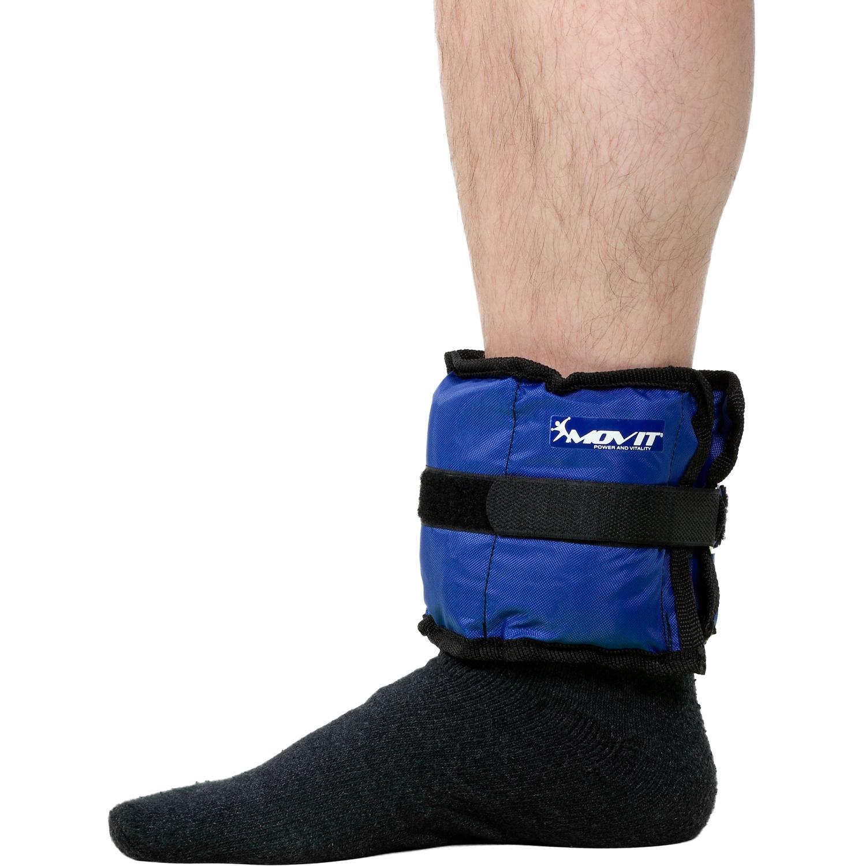 MOVIT 4 Gewichtsmanschetten Laufgewichte Fußgewichte 2 x 0.5kg 2 x 1 kg 3 Farben