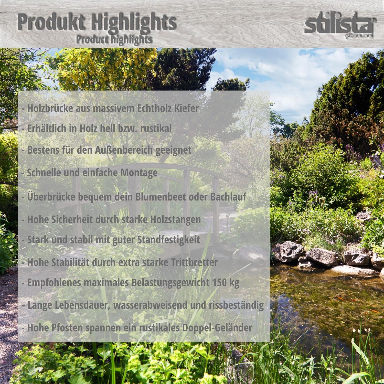 xxl massif pont en bois de l 39 tang jardin ponton huil 150cm long ebay. Black Bedroom Furniture Sets. Home Design Ideas
