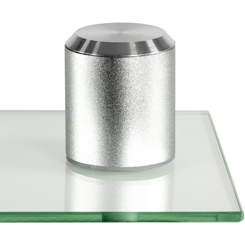 stilista design glas aluminium cd dvd regal wandregal f r. Black Bedroom Furniture Sets. Home Design Ideas