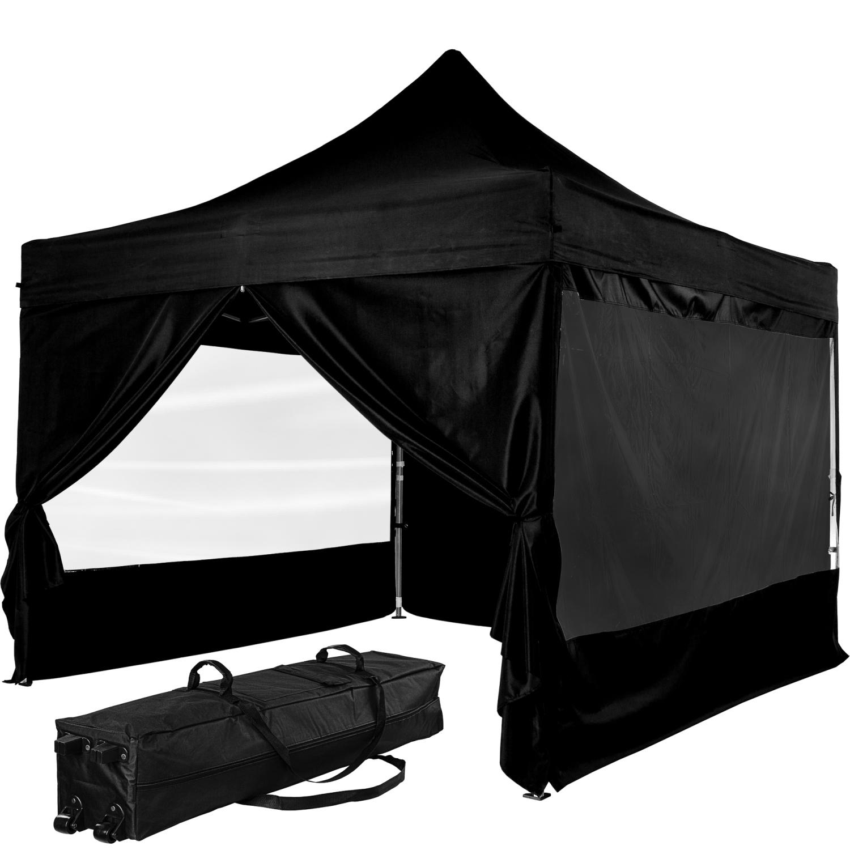 instent profi alu faltpavillon 3x3m wasserdicht pavillon gartenzelt faltbar ebay. Black Bedroom Furniture Sets. Home Design Ideas