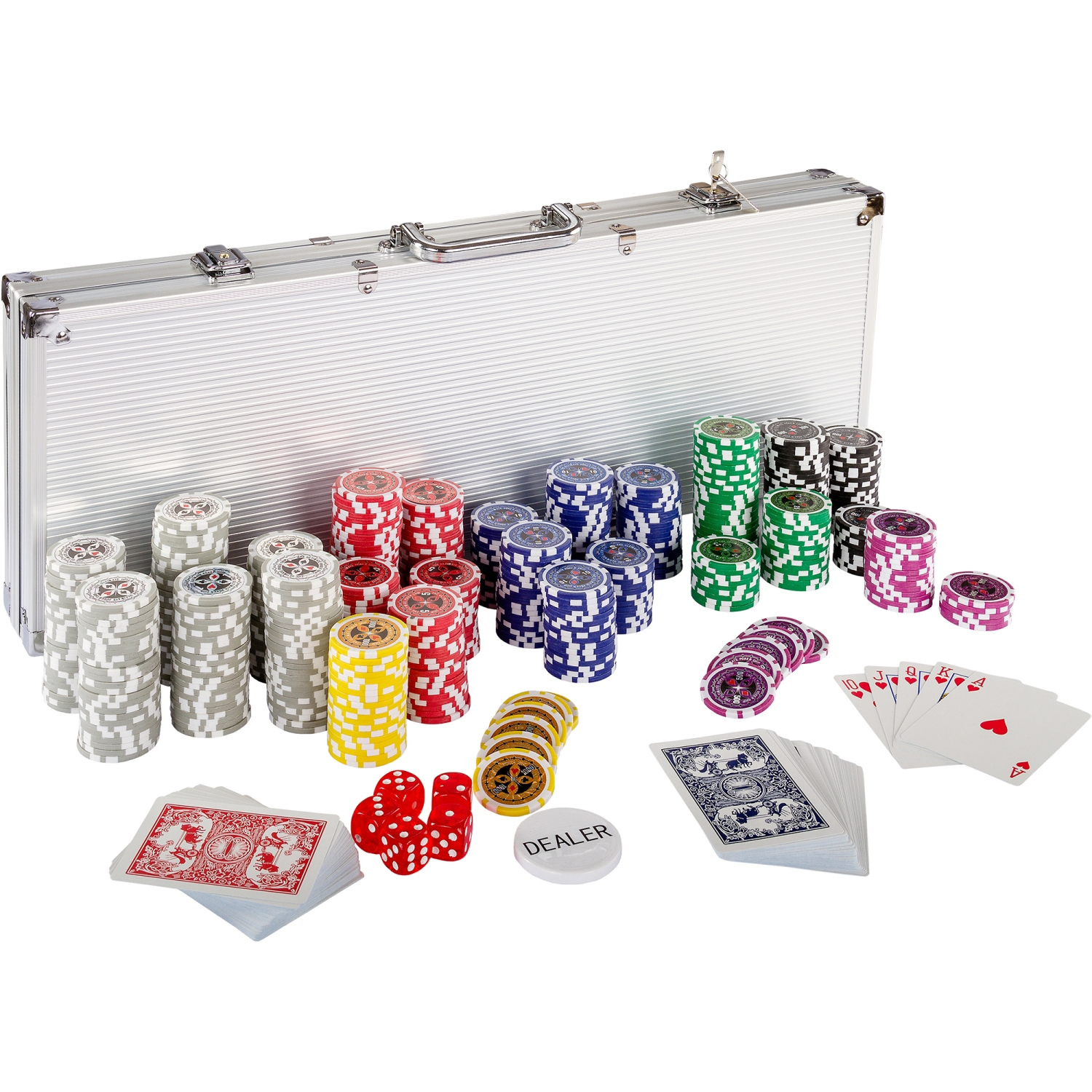 pokerkoffer pokerset poker set laser pokerchips 500 chips alu koffer jetons ebay. Black Bedroom Furniture Sets. Home Design Ideas