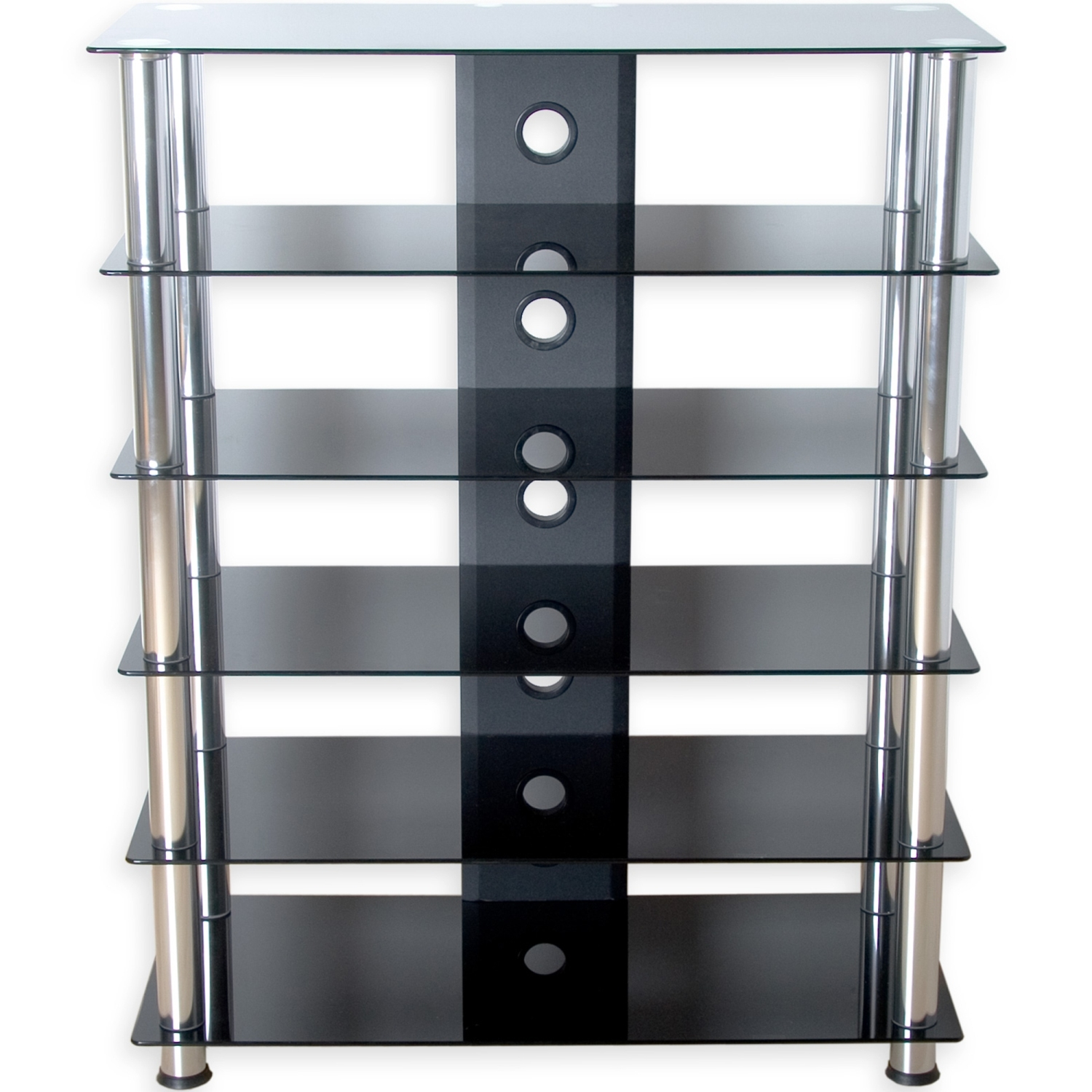 stilista tv rack schrank st nder m bel regal hifi audio glas schwarzglas ebay