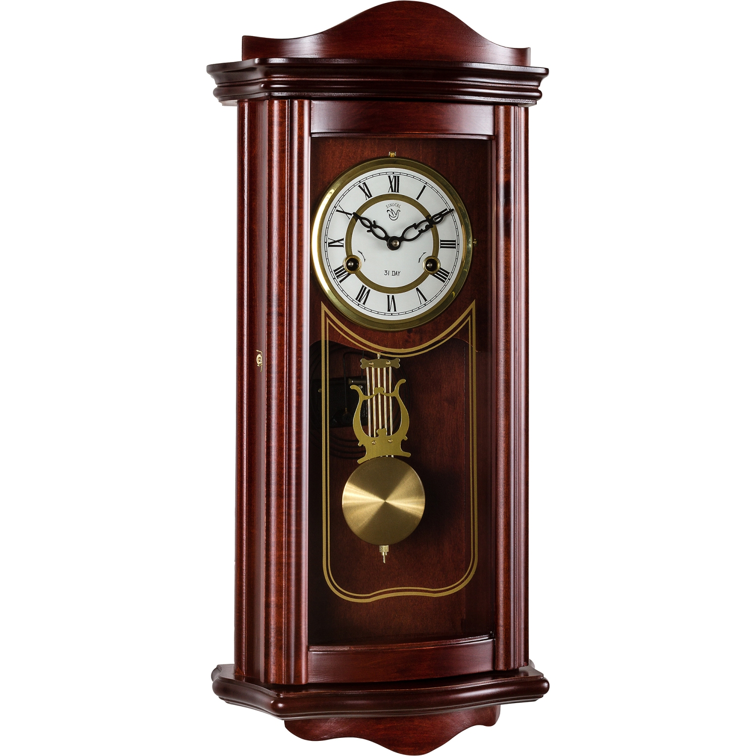 wanduhr pendeluhr regulator antik mechanisch mahagoni holz uhr prometheus ebay. Black Bedroom Furniture Sets. Home Design Ideas