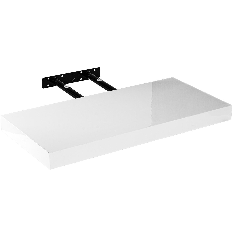 stilista wandboard volato wandregal cd dvd regal 70cm wei hochglanz ebay. Black Bedroom Furniture Sets. Home Design Ideas